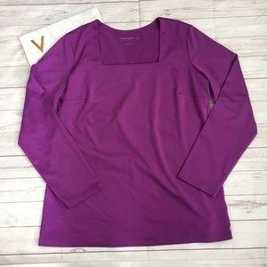 susan graver womens s purple top essentials comfy